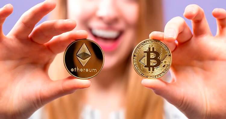 Капитализация биткоин и эфир на рынке